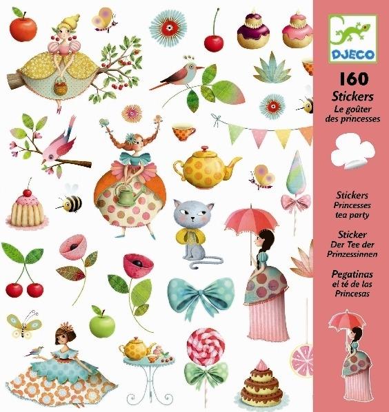 Djeco: Design - Princess Tea Party Stickers