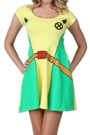 X-Men Rogue Women's Slim Skater Dress (X-Large)