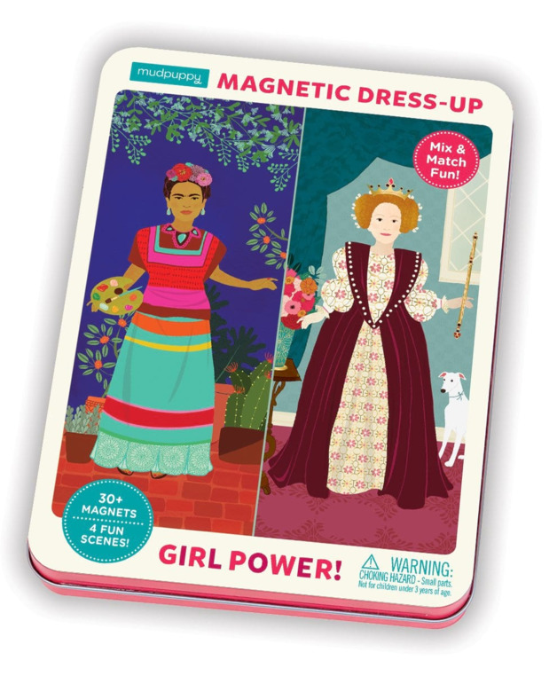 Mudpuppy: Girl Power! - Magentic Dress-Up