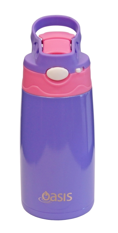 Oasis: Kids' Stainless Steel Insulated Drink Bottle - Purple/Pink (350ml)