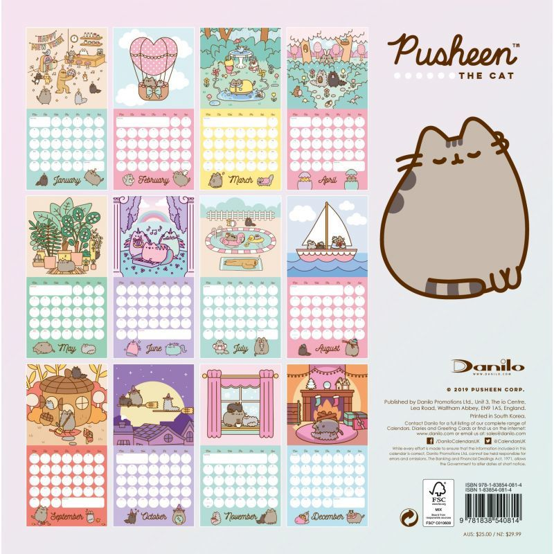 Pusheen 2020 Square Wall Calendar image