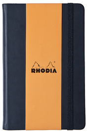 Webnotebook A6 Blank with Elastic Closure (Black)