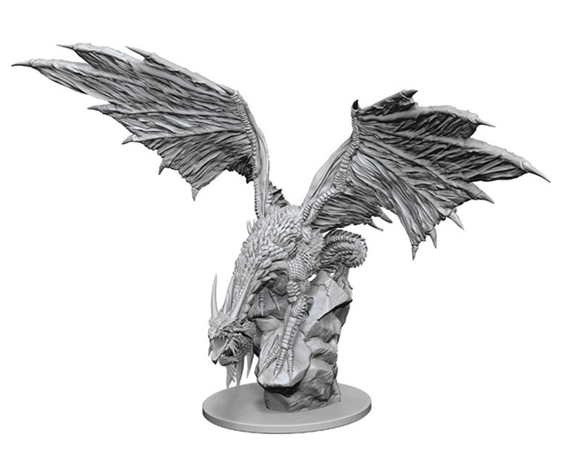 Pathfinder Deep Cuts: Unpainted Miniature - Silver Dragon image