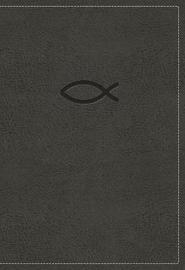 KJV, Thinline Bible Youth Edition, Leathersoft, Gray, Red Letter Edition, Comfort Print by Thomas Nelson