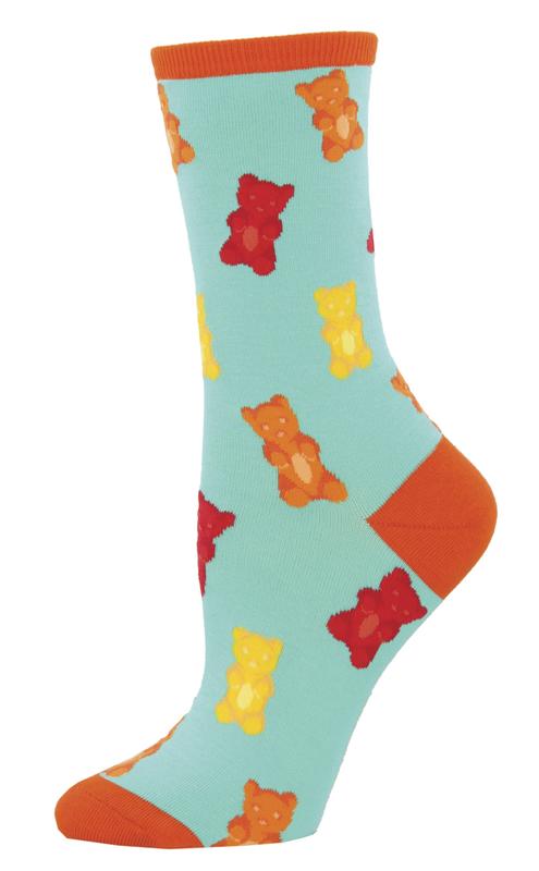 Socksmith: Women's Gummy Bears Crew Socks - Aquamarine