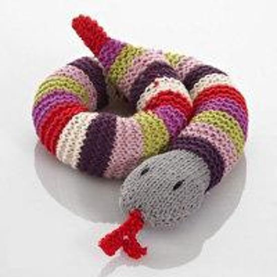 Pebble: Crochet Snake Rattle - Purple