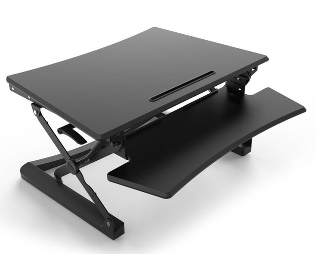 Buy Loctek: MT101-M - Height Adjustable Sit-Stand Desk at Mighty Ape on metal desk stand, wood desk stand, collapsible desk stand, long desk stand, simple desk stand, glass desk stand, table stand, magnetic desk stand, durable desk stand, standing desk stand, silver desk stand, modular desk stand, portable desk stand, plastic desk stand, ergonomic desk stand, small desk stand,