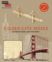 IncrediBuilds: San Francisco: Golden Gate Bridge 3D Wood Model And Book