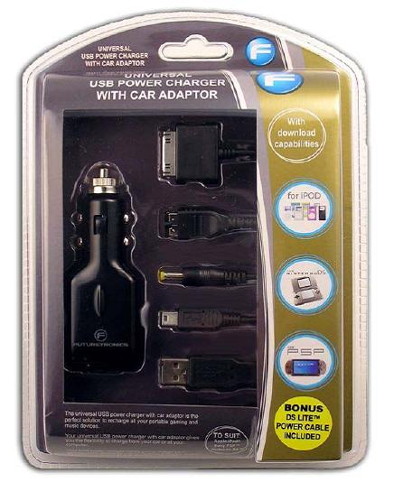 Futuretronics Universal USB Power Charger with Car Adaptor for PSP image