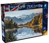 Holdson: Pieces of New Zealand - Series 4 - Misty Sunrise Lake Matheson - 1000 Piece Puzzle