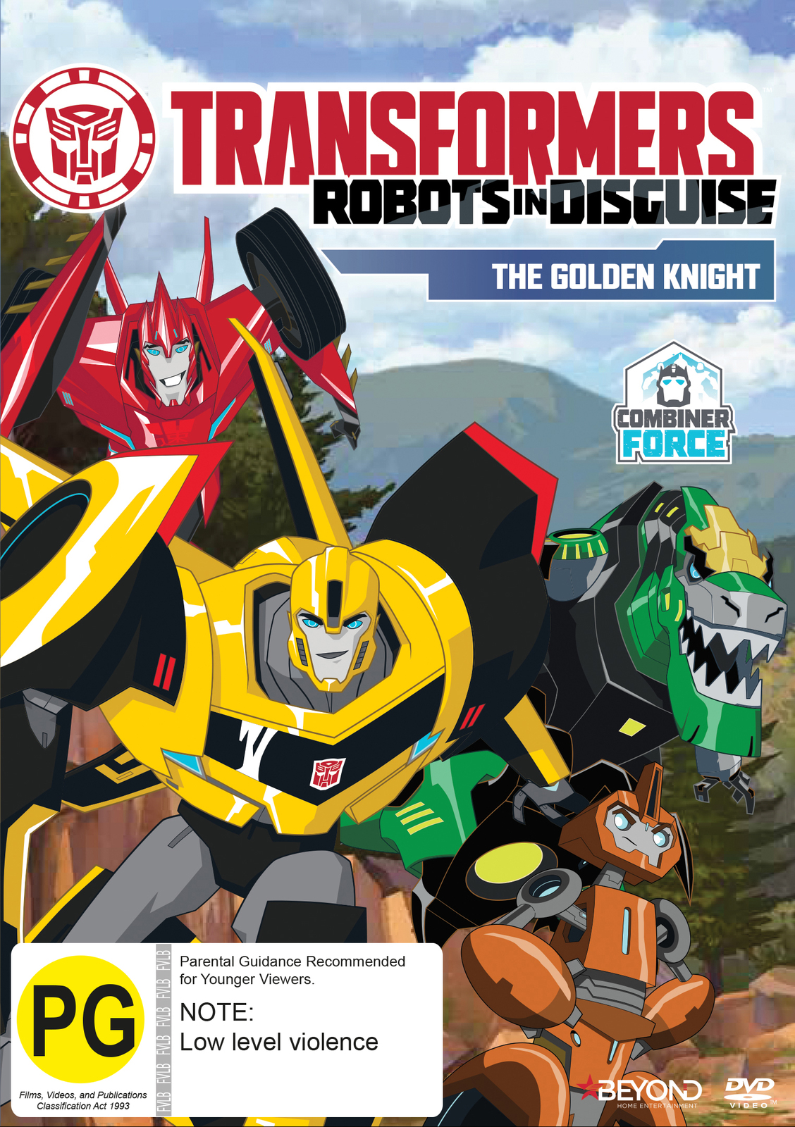 Transformers Robots in Disguise: The Golden Knight on DVD image