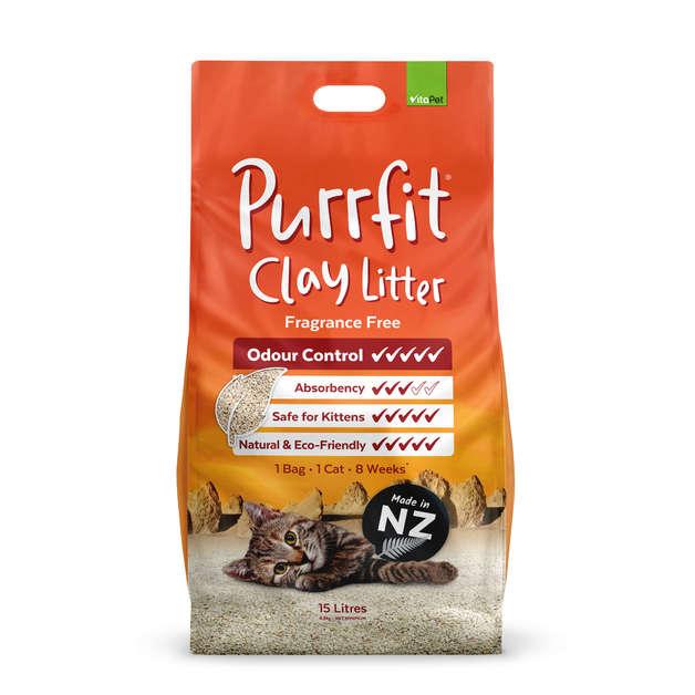 Vitapet: Purrfit Clay Litter (15L)