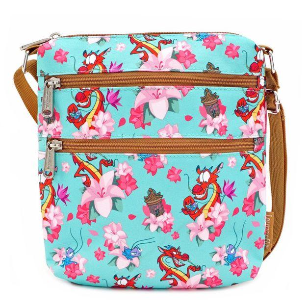 Loungefly: Disney Mulan Mushu Cricket Passport Bag