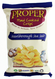 Proper Crisps - Marlborough Sea Salt 150gm image