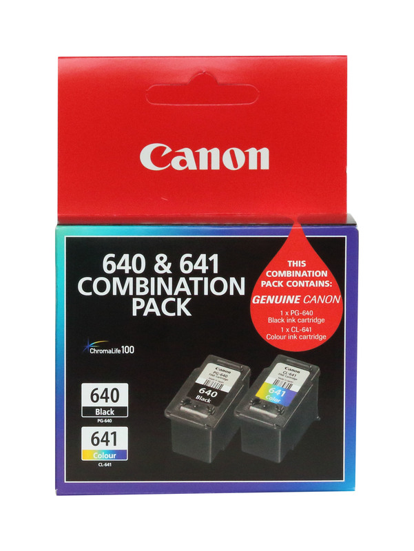Canon PG640 + CL641 Combo Pack Ink Cartridges