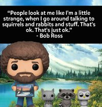 The Joy of Painting - Bob Ross (with Raccoon) Pop! Vinyl Figure (with a chance for a Chase version!) image