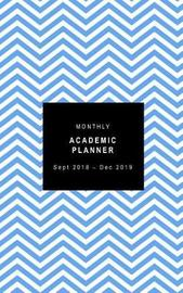 Monthly Academic Planner Sept 2018 - Dec 2019 by Rainbow Notebooks