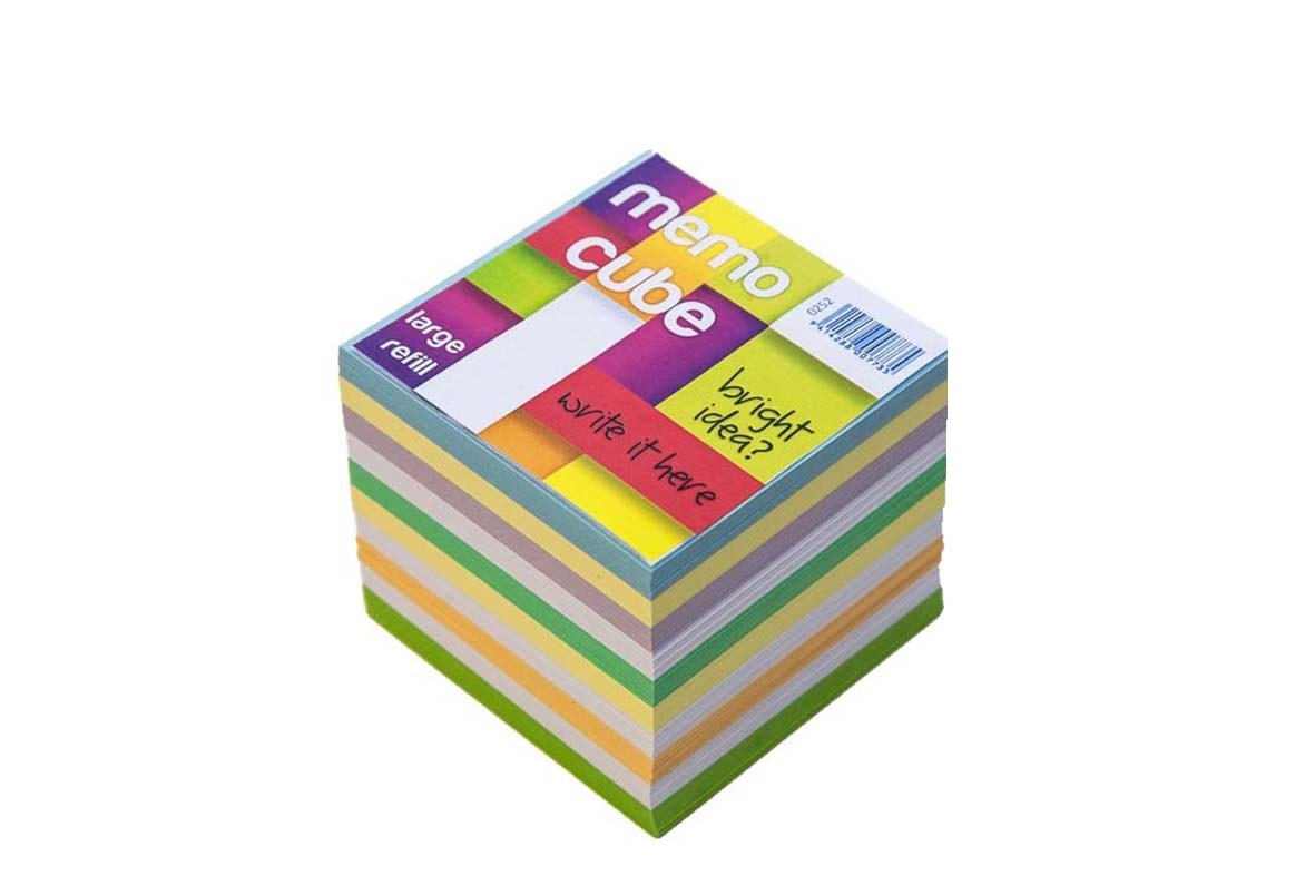 Memo Cube Large Refill - Assorted Colours image