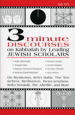 3 Minute Discourses on Kabbalah by Leading Jewish Scholars by Adin Steinsaltz image