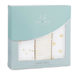 Aden + Anais: Metallic Swaddle - Gold (3 Pack Swaddling Wraps)