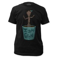 Guardians of the Galaxy Baby Dancing Groot T-Shirt (Black, Large)