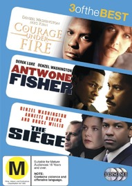 Courage Under Fire / Antwone Fisher / The Siege - 3 Of The Best (3 Disc Set) on DVD image