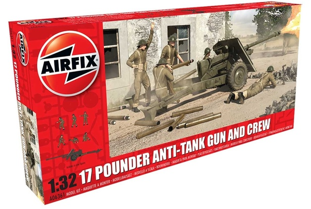 Airfix 17 Pounder Anti-Tank Gun & Crew 1:32 Model Kit