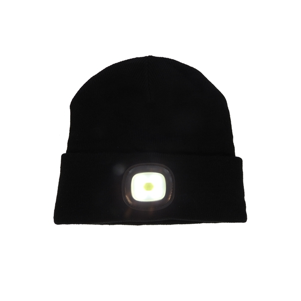 LED Beanie: High Power Waterproof Beanie (Black)