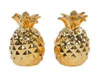 Gold Pineapple - Salt & Pepper Shaker Set