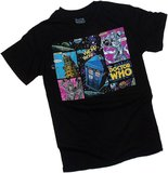 Doctor Who Comic Strip Villians Black T-Shirt - X Large