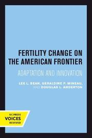 Fertility Change on the American Frontier by Lee L. Bean image