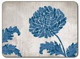 Chrysanthemum Blue Placemats (set of 6)