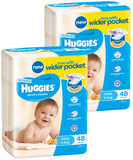 Huggies Nappies Bulk Bundle - Infant Boy 4-8kg (96)