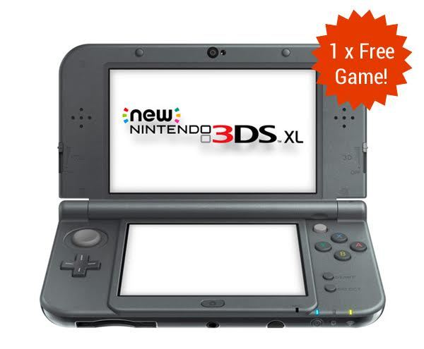 New Nintendo 3DS XL - Metallic Black for Nintendo 3DS