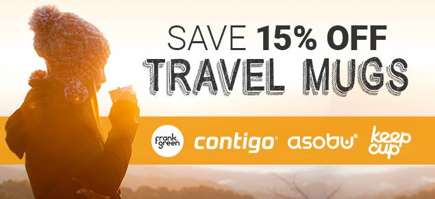 15% off Travel Mugs!