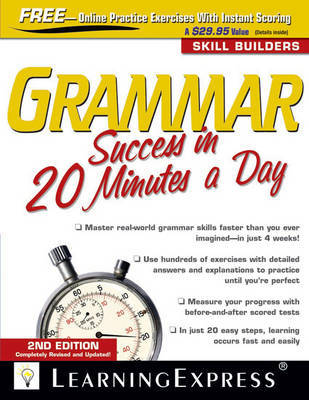 Grammar Success in 20 Minutes a Day, 2nd Edition by Learning Express LLC image