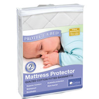 Protect-A-Bed Cotton Quilted Fitted Bassinet Mattress Protector