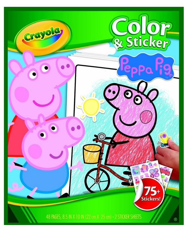 Crayola: Colour N Sticker Book - Peppa Pig image