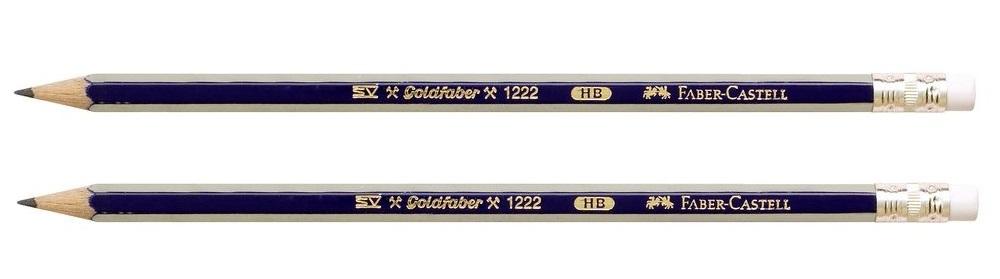 Faber-Castell: Goldfaber Graphite Pencil HB with Eraser - 2 Pack image