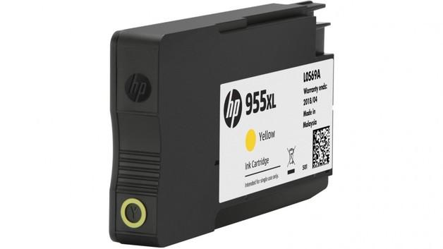 HP 955XL High Yield Ink Cartridge - Yellow