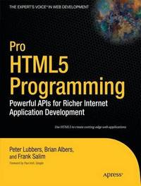 Pro HTML5 Programming by Peter Lubbers image