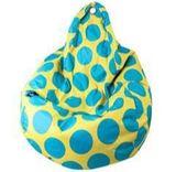 Beanz Big Bean Indoor/Outdoor Bean Bag - Yellow with Blue Dots