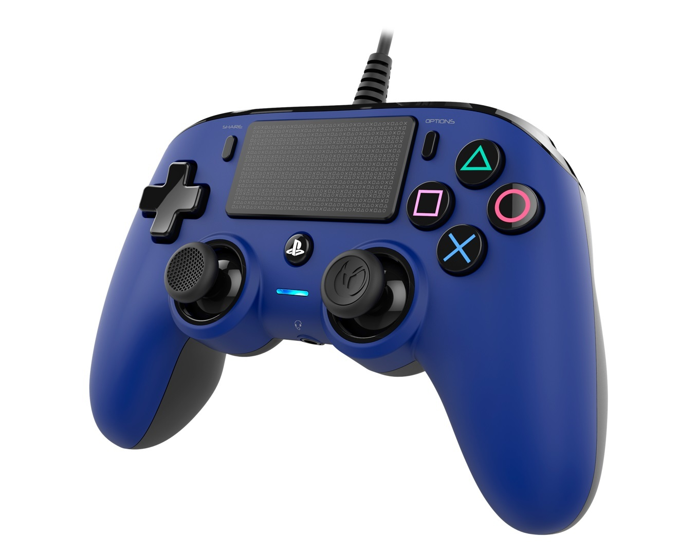 Nacon PS4 Wired Gaming Controller - Blue for PS4 image