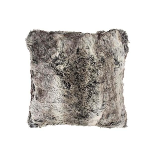 Bambury Faux Fur Cushion (Chinchilla)