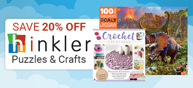 20% off Hinkler Craft & Puzzles!