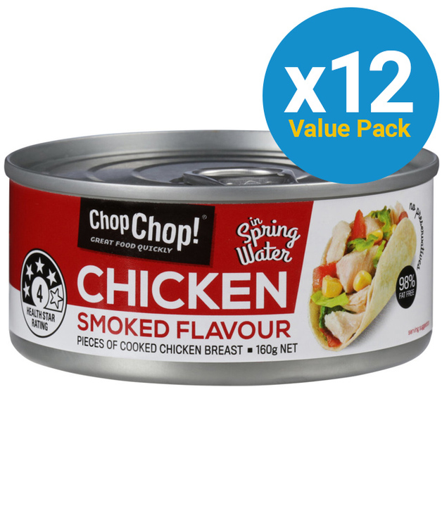Chop Chop: Chicken Chunks - Smoked Flavour (85g x 12)