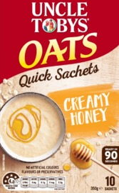Uncle Tobys Oats Quick Creamy Honey (350g)