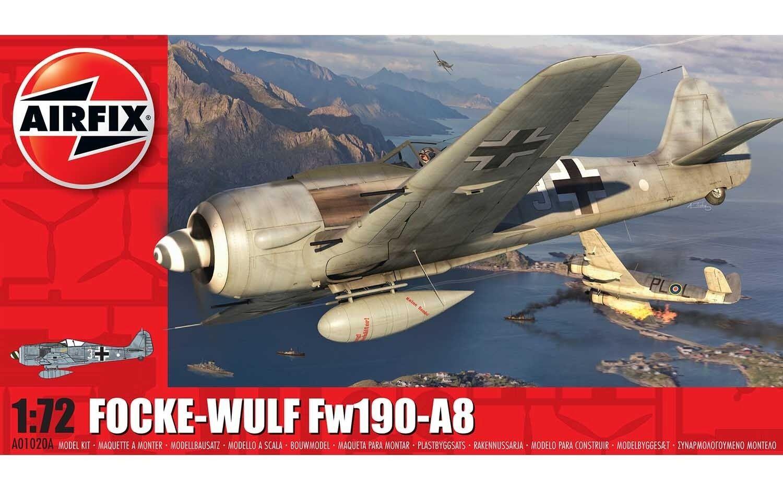 Airfix 1:72 Focke-Wulf Fw190-A8 1:72 Model Kit image