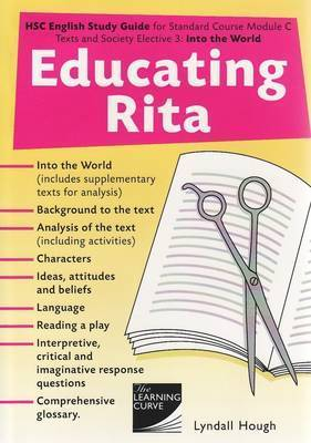 critical essays on educating rita Educating rita this extract is very near to the beginning of the play educating rita by willy russell rita is an open university student who is meeting frank, her english tutor, for the first time.