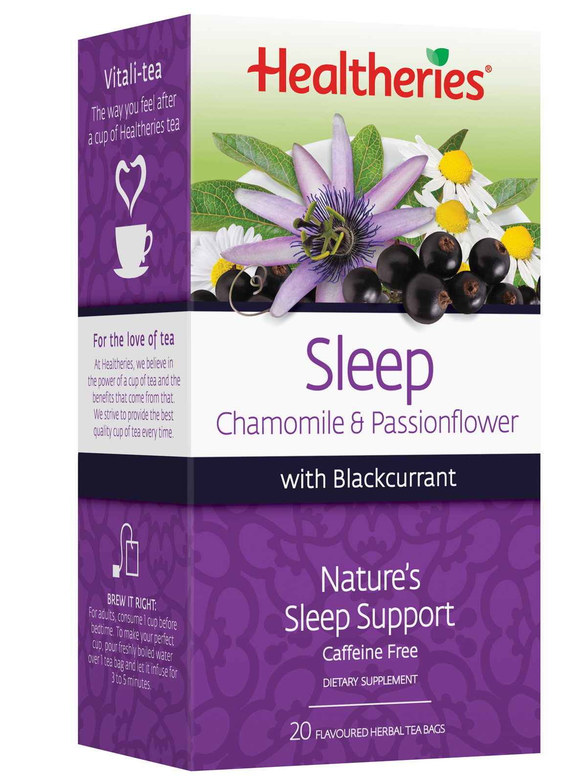 Healtheries Sleep with Blackcurrant Tea (Pack of 20) image